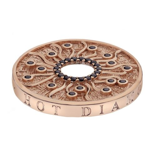 Hot Diamonds Emozioni Rose Gold Plated Stainless Steel Many Paths Coin - Large 33mm EC150a
